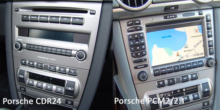 Porsche CDR24 and PCM2.1 radio options