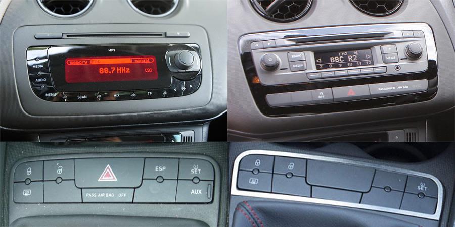 Seat Ibiza Mk4 (6J) Stereo Upgrade Kits, Parking Cameras, Speaker ...