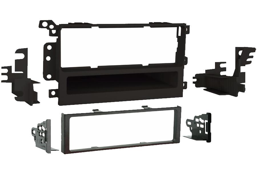 Cadillac, Chevrolet, GMC, Hummer (GM Delco) Single DIN car audio facia adapter panel (MATT BLACK)