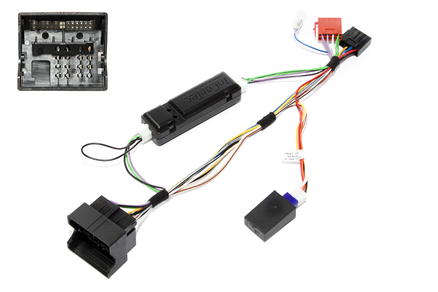 Audi quadlock to ISO radio adapter cable with CANbus ignition interface