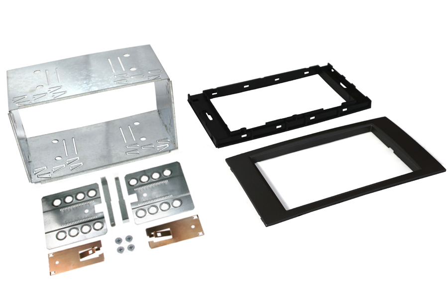 Ford 6000CD square Double Din Cage kit BLACK