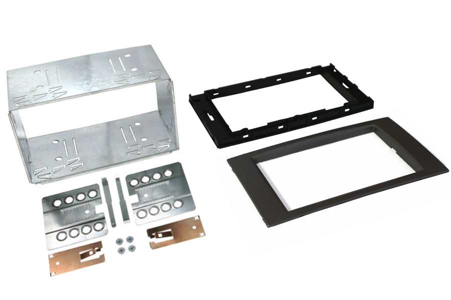 Ford 6000CD square Double Din Cage kit DARK GREY