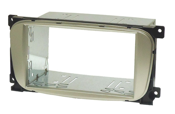Ford 6000CD Double DIN cage kit (OVAL SHAPE - SILVER)