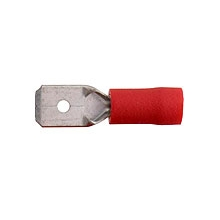 Red Male Spade push-on 6.3mm