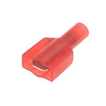 Red Male Spade Insulated  push-on 6.3mm