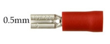 Red Spade push-on 2.8mm for 0.5mm tab width