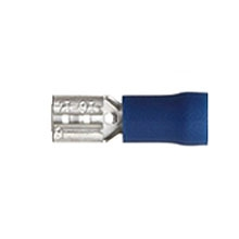 Blue spade push-on 4.8mm