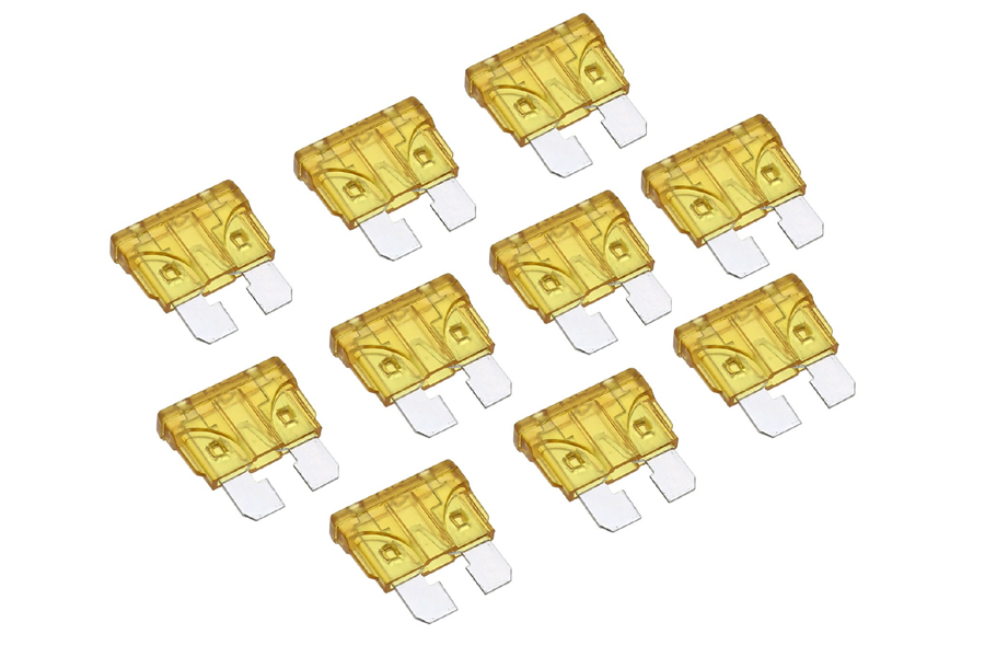 20 Amp standard ATO blade fuses (10pcs pack)