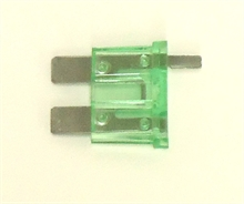 30 Amp standard ATO blade fuse with spur