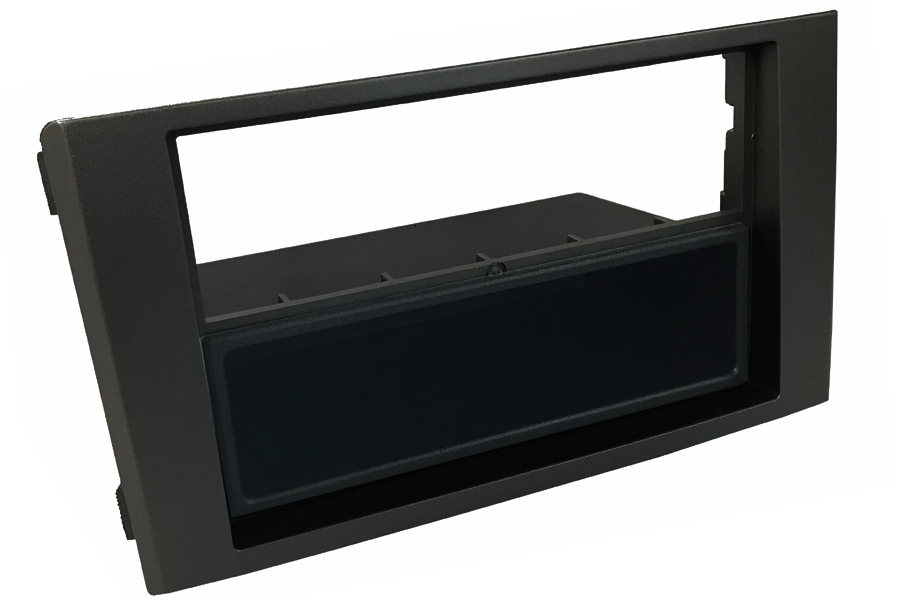 Iveco Daily (2007-2014) Single/Double DIN car audio facia with removable pocket (MATT BLACK)