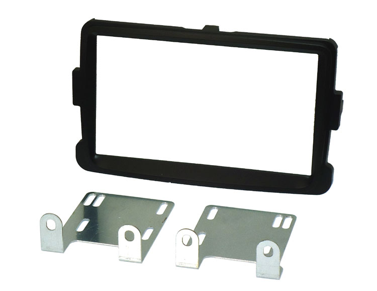 Dacia Lodgy, Dokker, Duster (2012 Onwards) Double DIN Fascia adapter kit (MATT BLACK)