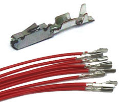 MQS  Receptacle wires RED  (10pcs)