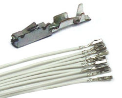 MQS  Receptacle wires WHITE  (10pcs)