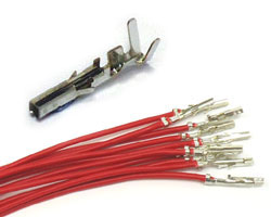 Molex Minifit Receptacle wires RED (10pcs)