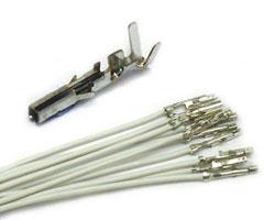 Molex Minifit Receptacle wires WHITE (10pcs)