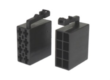 Black 8 way  male power iso connectors (10pcs)