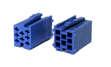 8 way Blue male  mini-iso connectors (10pcs)