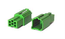 6 way Green female  mini-iso connectors (10pcs)