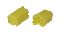 6 way Yellow male  mini-iso connectors (10pcs)