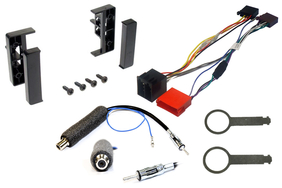 Audi A2, A4(00-01) , A6 head unit fitting kit