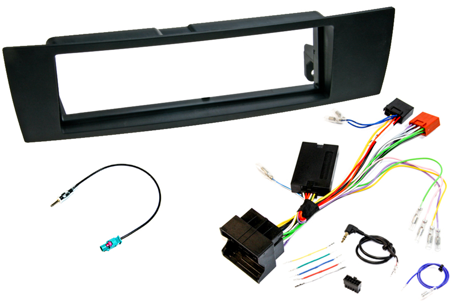 BMW E90/E80 single din SWC fitting kit