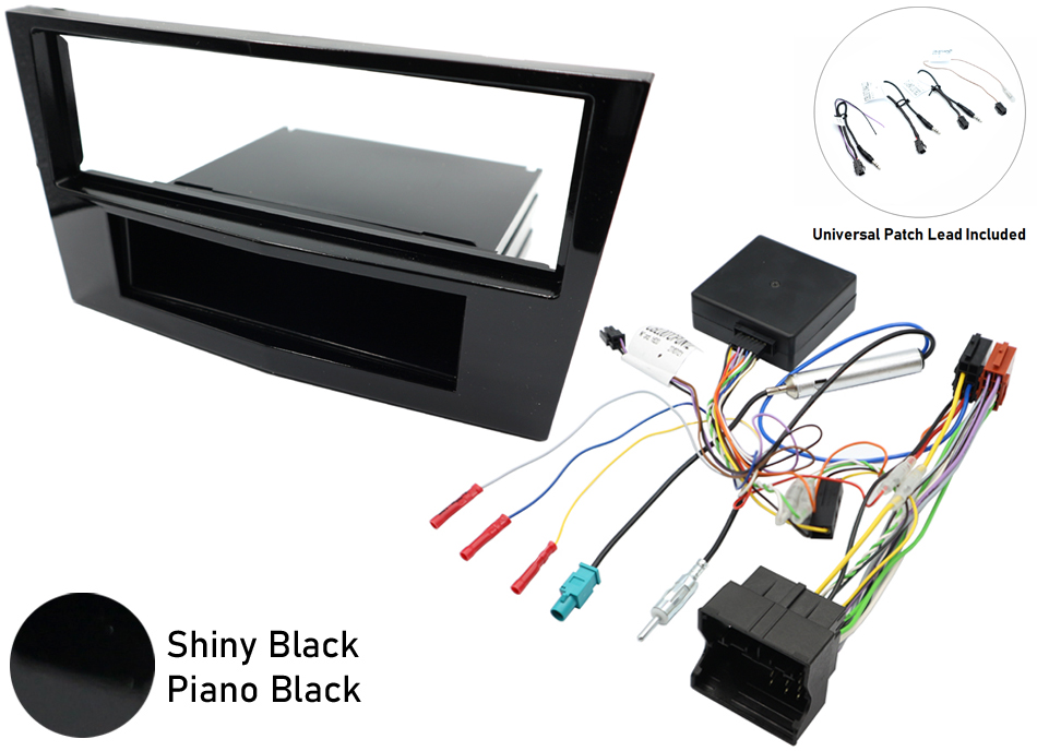 Vauxhall CANbus single din SWC gloss black  kit
