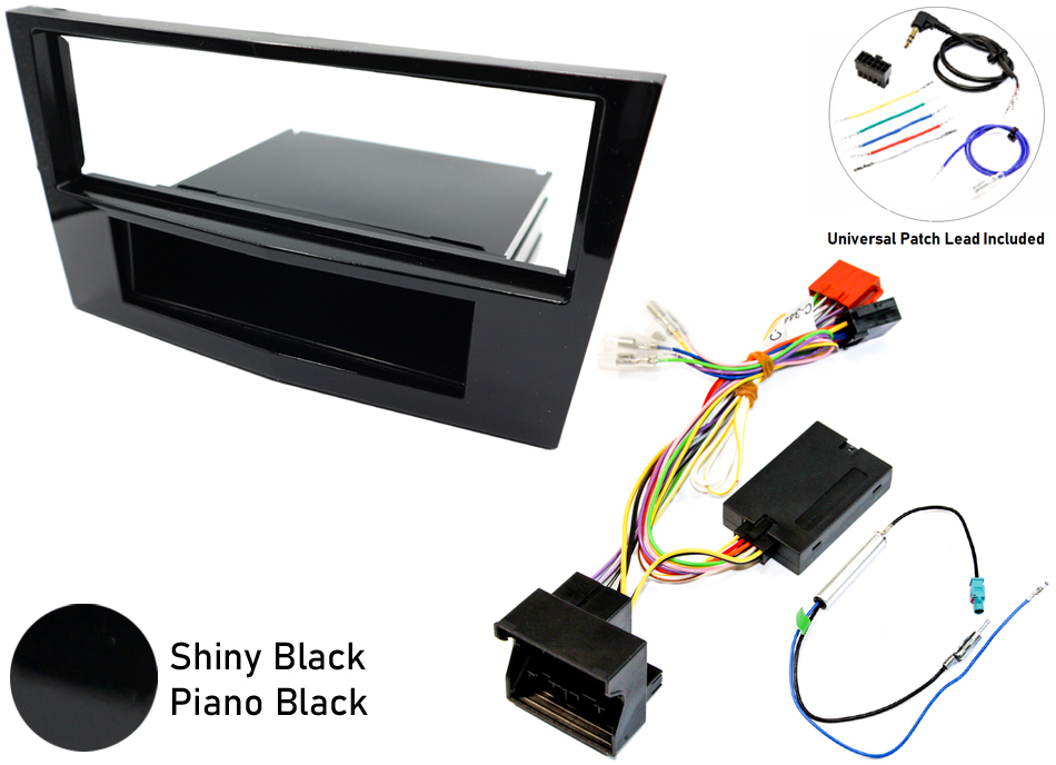 Vauxhall Corsa D single din SWC gloss black  kit