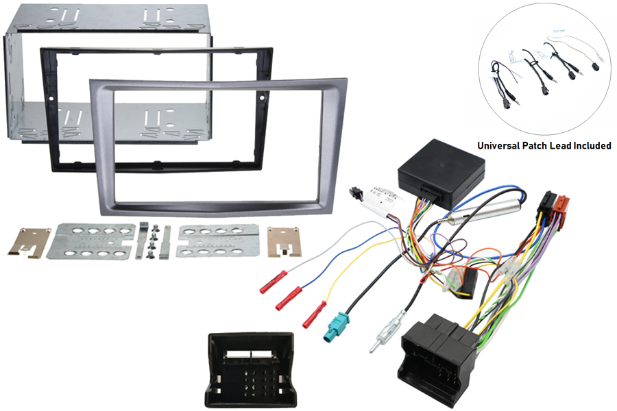 Vauxhall double din kit w/ SWC - Charcoal metallic