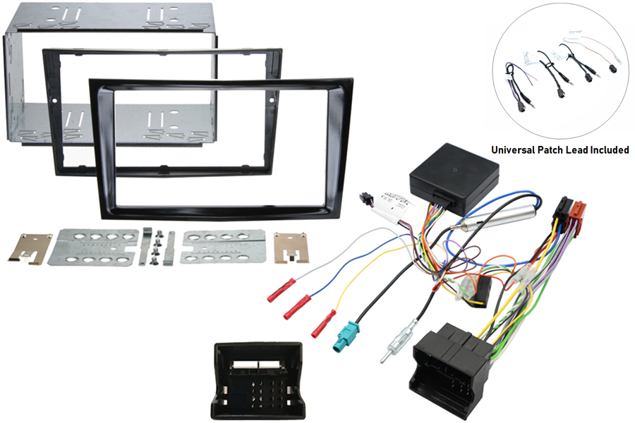 Vauxhall CANbus double din SWC gloss black kit