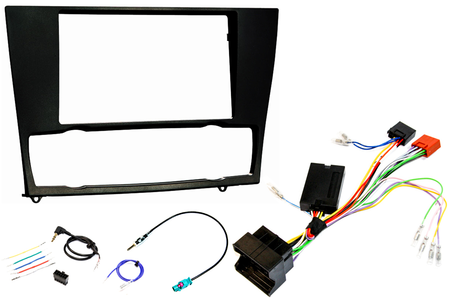 BMW E90 double din fitting kit SWC