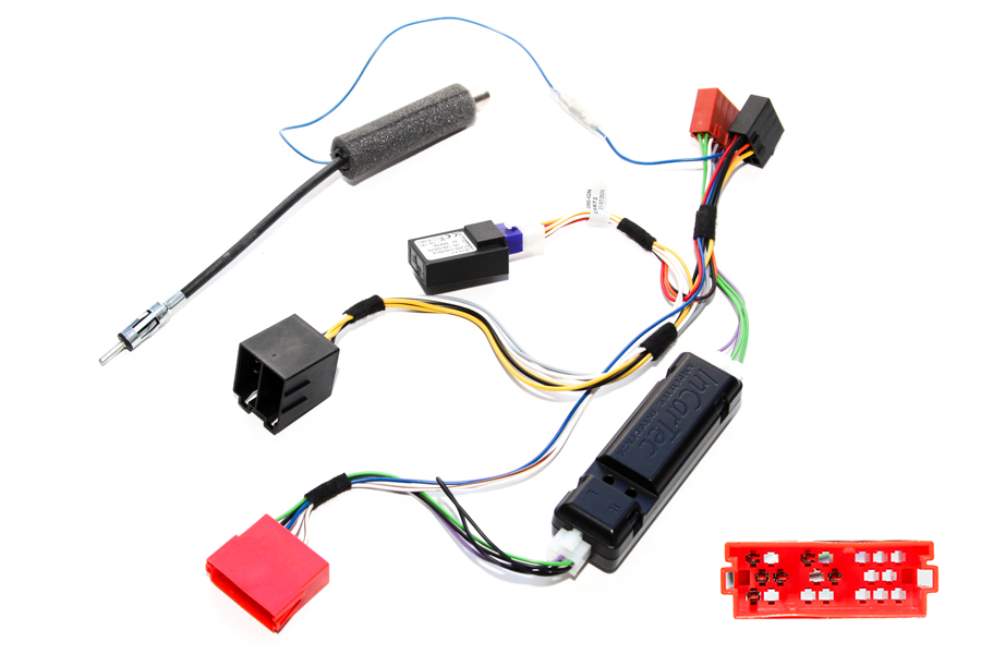 Audi CAN ignition ISO and antenna adapter harness