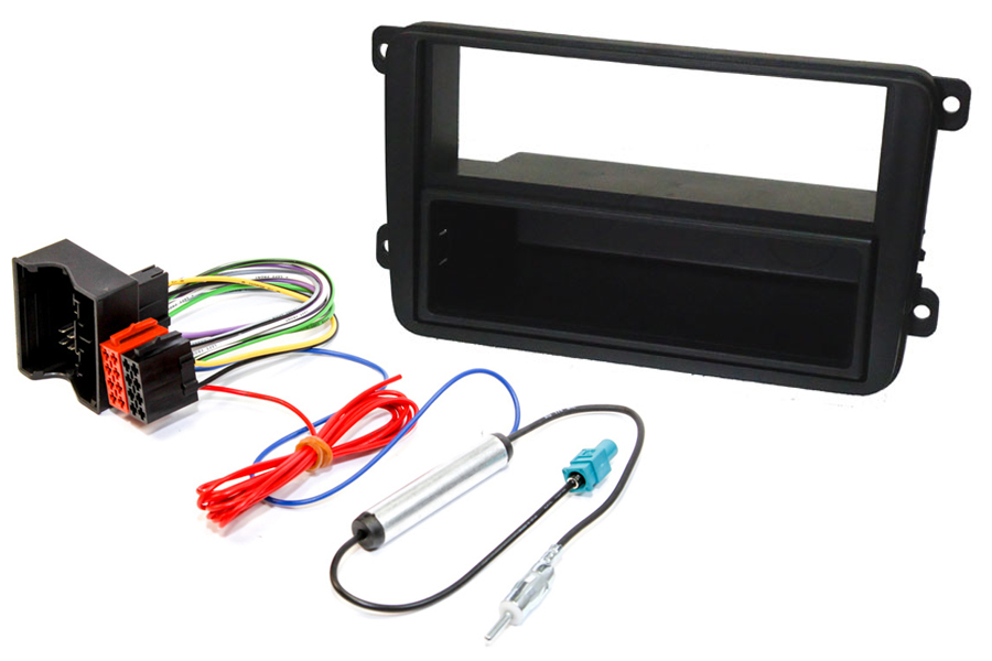 Volkswagen stereo fitting kit single and double DIN, hardwire ignition