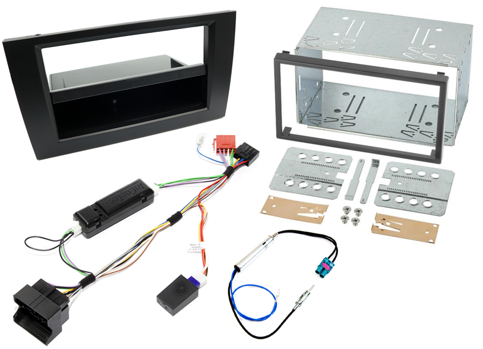 Audi A4 B7 single/double DIN complete radio fitting kit (WITH CAN IGNITION)