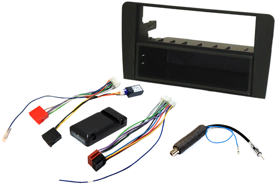 Audi A3 8P 2003-2007 double din fitting kit with CAN ignition interface