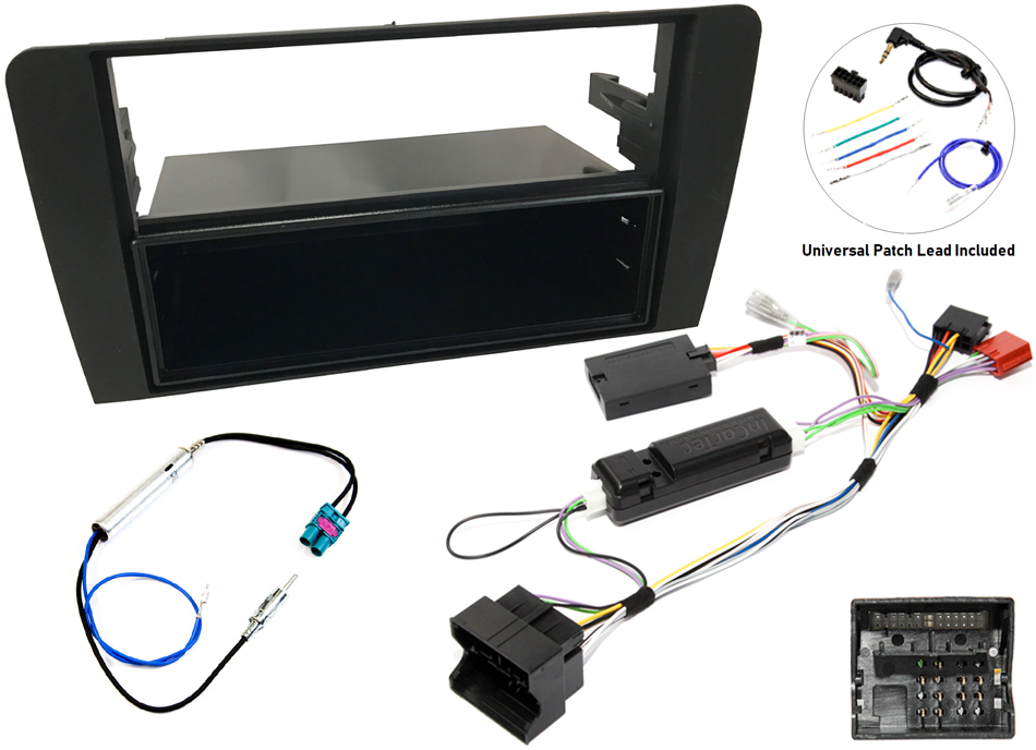 Audi A3 8P single and double din stereo upgrade kit, steering wheel control and CANbus ignition