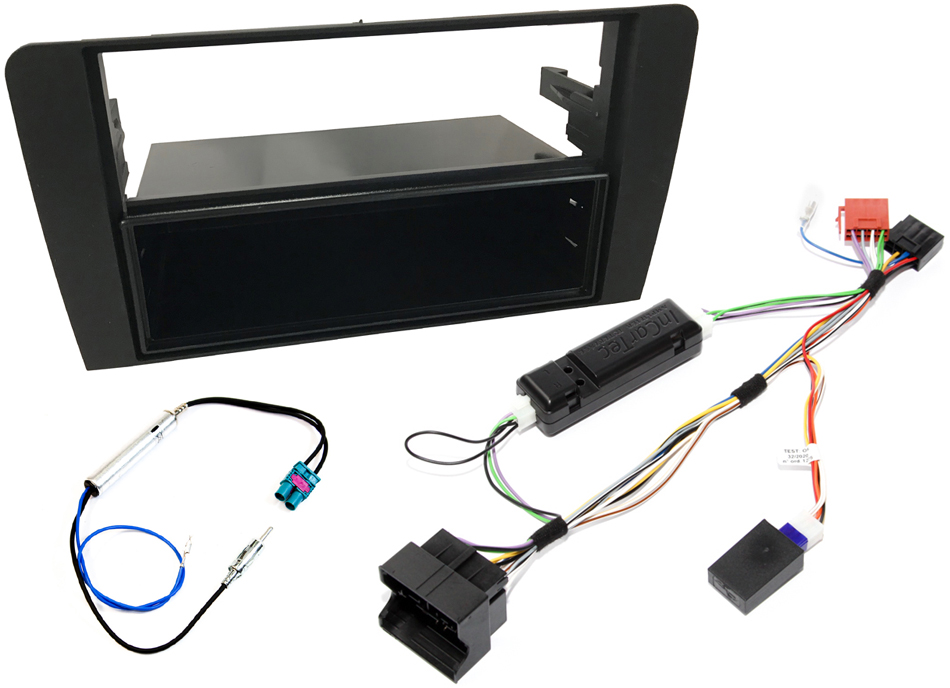 Audi A3 8P single and double din stereo fitting kit with CAN ignition interface