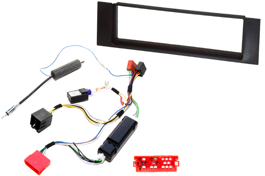 Audi A4 B6 single din stereo fitting kit with CANbus ignition interface