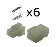 6 way Molex minifit connector kit