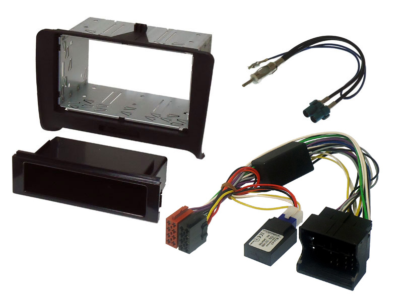 Audi TT 8J single and double din stereo fitting kit with CANbus ignition