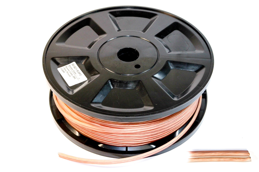 Clear OFC Speaker cable 1.5mm2  (75m)