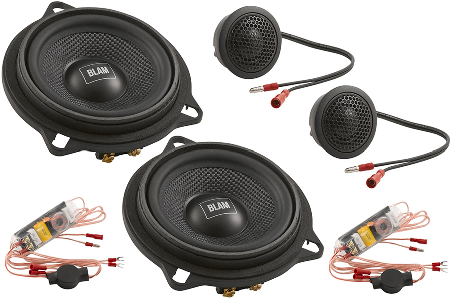 BLAM BMW and Mini dedicated 2-way 100 mm (4 inch) Component Speakers (PAIR)