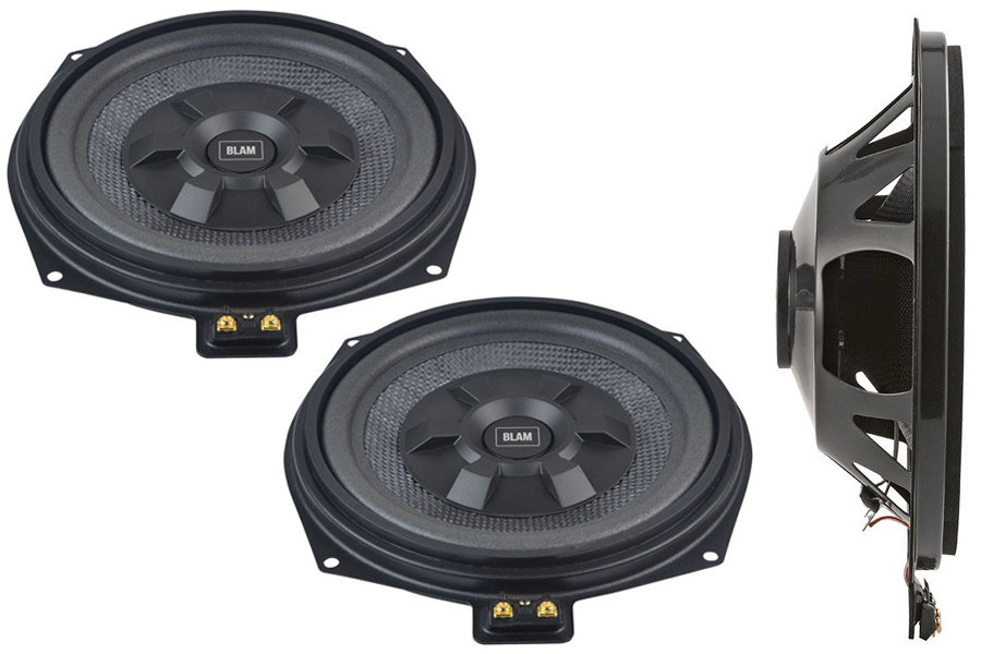 "BLAM BMW 8"" 200mm underseat subwoofer extra flat  (PAIR)"