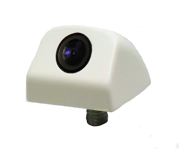 Vertical surface mount reverse camera - white