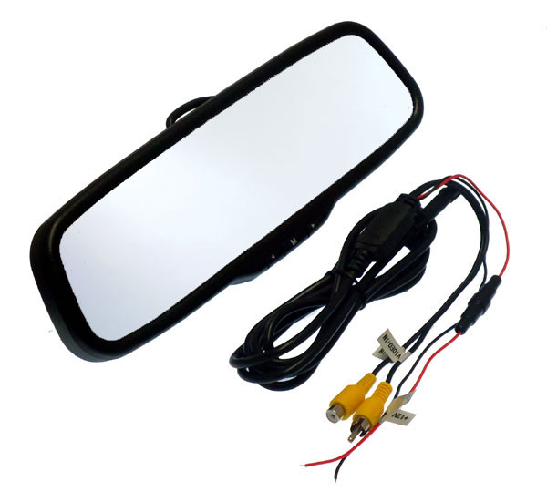 Rear view clip over mirror monitor