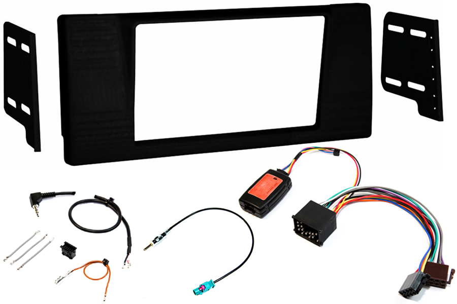 BMW E39 5 series double din fitting kit round pin