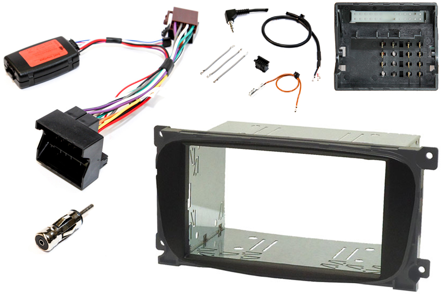 Ford double din fitting kit with steering controls