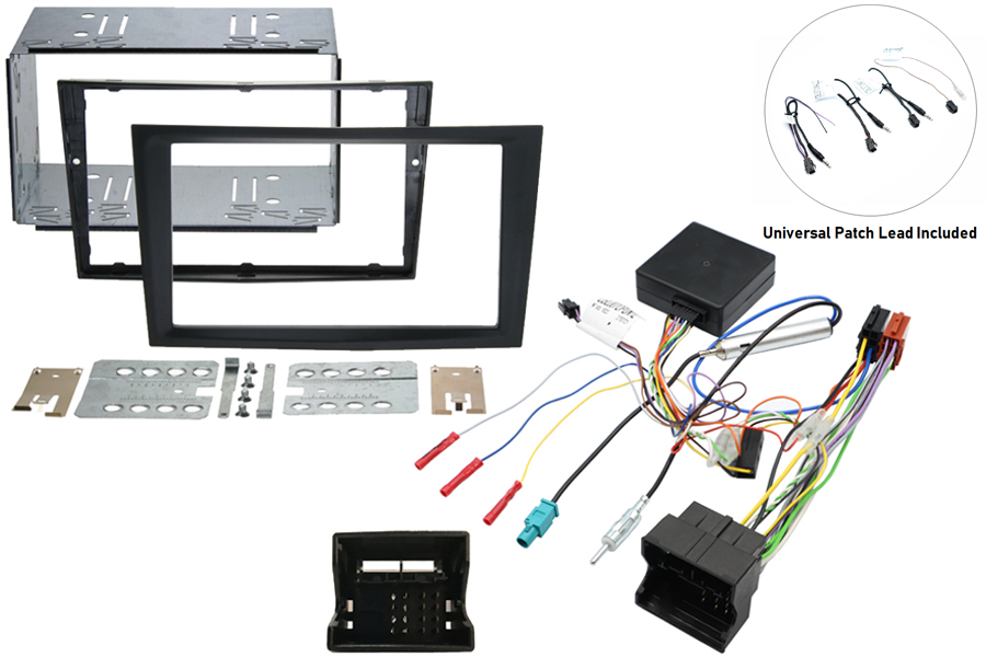 Vauxhall double din kit w/ SWC - Charcoal matt
