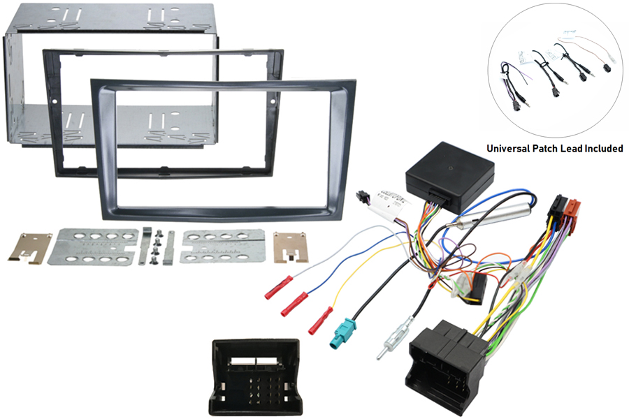 Vauxhall double din kit with SWC -Stealth Black