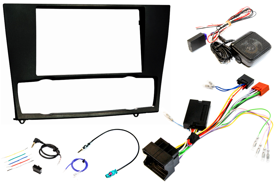 BMW E90 double din fitting kit SWC & PDC