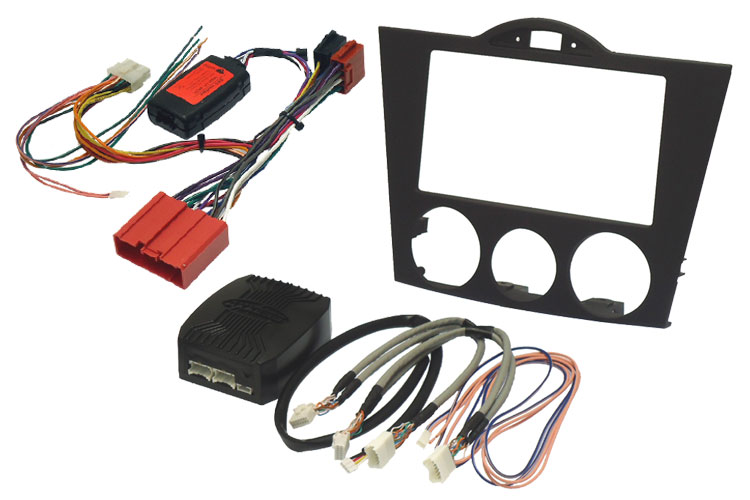Mazda RX8 04-08 double din fitting kit with SWC